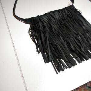 Handbags - NWT Black Fringe Crossbody Bag no (no label)